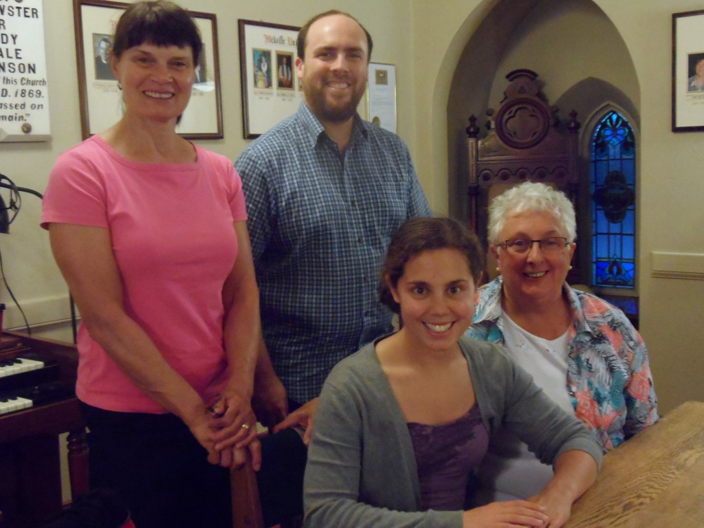 From left to right, Merrill Pierce, Gord Spence, Kelly Moores, and Kate Gregory.